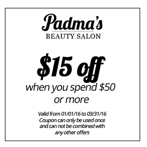 $15 off when you spend $50 or more