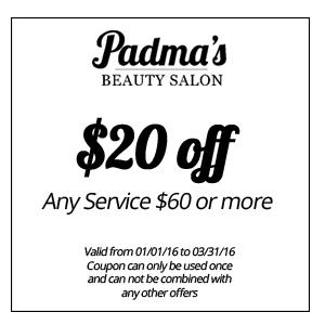 $20 off any service $60 or more